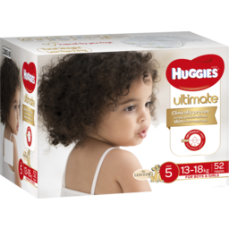 Photo of Huggies Ultimate Nappies, Unisex, Size 5 (13-18kg), 52 Nappies