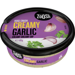 Photo of Zoosh Huge Crush Creamy Garlic Creamy Dreamy Dip 185g