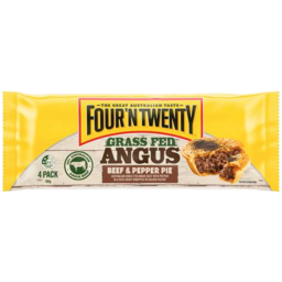 Photo of Four N Twenty 4 Legendary Angus Beef & Pepper Pies 760g