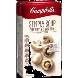 Photo of Campbells Simply Soup Creamy Mushroom 500gm