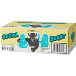 Photo of Brewmanity Social Beast Can 375ml 24 Pack
