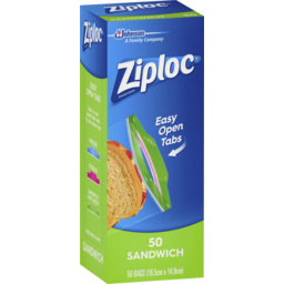 Photo of Ziploc® Easy Open Tabs Sandwich Bags 50 Pack