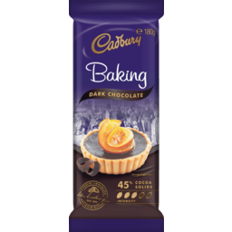 Photo of Cadbury Baking Choc Dark Block 180gm