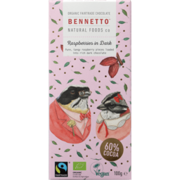 Photo of Bennetto Chocolate Raspberries I Dark 100g