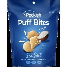 Photo of Peckish Puff Bites Flavoured Rice Crackers Sea Salt 80g