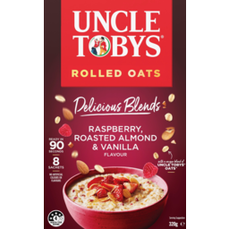 Photo of Uncle Tobys Oats Delicious Blends Raspberry Almond & Vanilla Flavour Sachets 8 Pack 320g