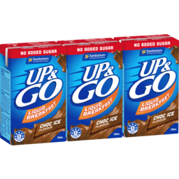 Photo of Up&Go No Added Sugar Choc Ice 3x250ml
