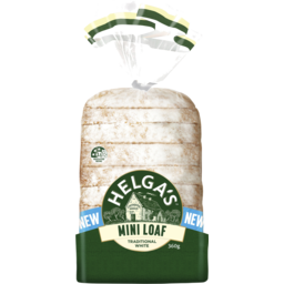 Photo of Helgas Traditional White Sliced Bread Mini Loaf 360g