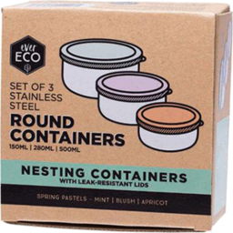 Photo of Ever Eco Nesting Container - Round (Stainless Steel) - Spring Pastels