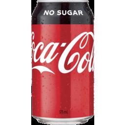 Photo of Coca-Cola No Sugar Soft Drink Can 375ml