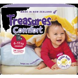 Photo of Treasures Comfort Nappies Crawler 24 Pack