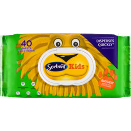 Photo of Sorbent Kids Flushable Wipes 40 Pack
