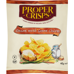 Photo of Proper Crisps Onion With Green Chives 40g