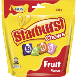 Photo of Wrigley's Starburst Original Fruit Chews Lollies Large Bag 235g