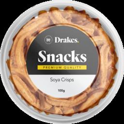 Photo of Drakes Snacks Soya Crisps Tub 100g