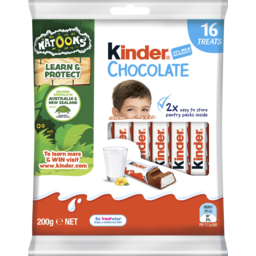 Photo of Kinder Chocolate 16 Treat Sharebag 200g