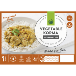Photo of CD READY TO EAT  VEGE KORMA W/RICE MEAL 350g