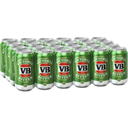 Photo of Victoria Bitter VB Can 375ml 24 Pack