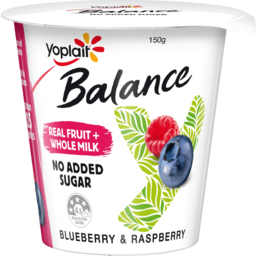 Photo of Yoplait Balance No Added Sugar Blueberry & Raspberry Yoghurt 150g