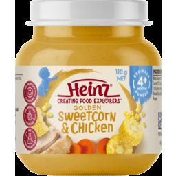 Photo of Heinz Purees Sweetcorn & Chicken 4 To 6 Months 110g