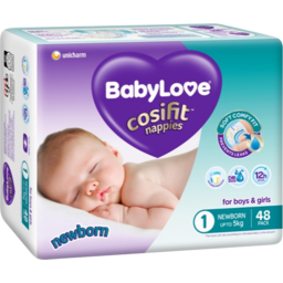 Photo of Babylove Nappy Cosifit Newborn 48s