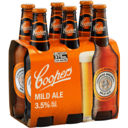 Photo of Coopers Mild Ale 375ml 6 Pack