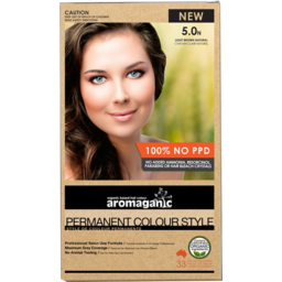 Photo of Aromaganic Hair Colour - Light Brown Natural 5.0n