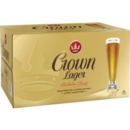Photo of Crown Lager 375ml 24 Pack