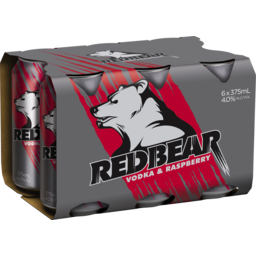 Photo of Red Bear Vodka Raspberry Cans