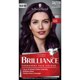 Photo of Schwarzkopf Brilliance Violet Vision 85 Permanent Hair Colour One Application