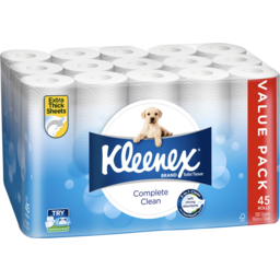 Photo of Kleenex Complete Clean Value Pack 45 Rolls