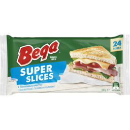 Photo of Bega Super Slices Iws Cheese 24pk 500g