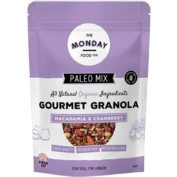 Photo of The Monday Food Co - Muesli - Paleo Granola Macadamia & Cranberry - 300g
