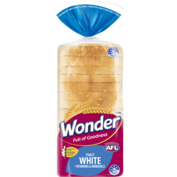 Photo of Wonder White Wonder High Fibre, Vitamins & Minerals White Sliced Bread Toast 700g
