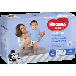 Photo of Huggies Ultra Dry Nappies Toddler Boys 36pk