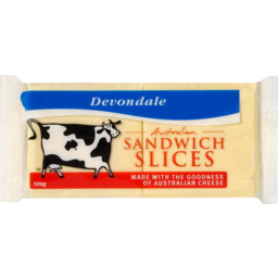 Photo of Devondale Sandwich Cheese Slices 500g