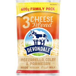 Photo of Devondale 3 Cheese Shredded Blend 600g
