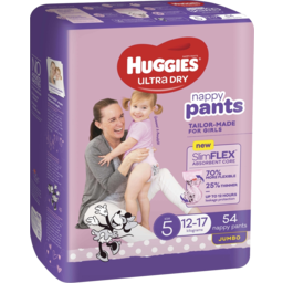 Photo of Huggies Ultra Dry Nappy Pants Girl Size 5 (12-17kg) 54 Pack