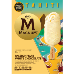 Photo of Streets Magnum Tahiti Passionfruit White Chocolate Ice Cream 4 Pack 360ml