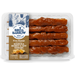 Photo of Bird & Barrow Free Range Chicken Kebabs Manuka Honey & Soy 5 Pack