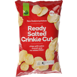 Photo of WW Crinkle Cut Ready Salted Potato Chips 150g
