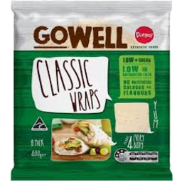 Photo of Gowell Classic Wraps 8pk 400g