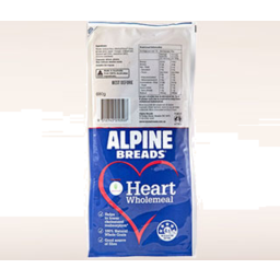 Photo of Alpine Breads Heart Wholemeal 680g
