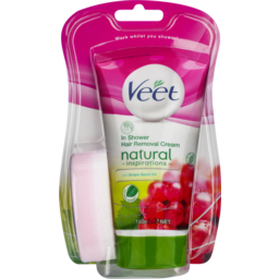 Photo of Veet Natural Inspirations Shower Cream Grape Seed Oil Hair Removal 150ml