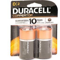 Photo of Duracell Alkaline D Batteries 2 Count