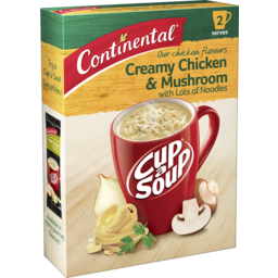 Photo of Continental Cup-A-Soup Creamy Chicken & Mushroom Lots-A-Noodles 2 Serves 55g
