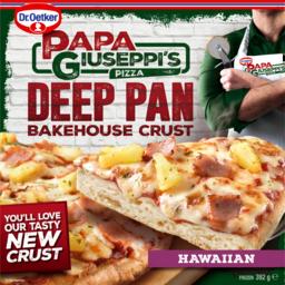 Photo of Dr Oetker Papa Giuseppi's Hawaiian Deep Pan Bakehouse Crust Pizza 392g