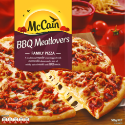 Photo of Mccain Family Pizza BBQ Meatlovers 500g