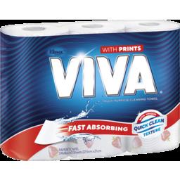 Photo of Viva Paper Towel Print 3pk