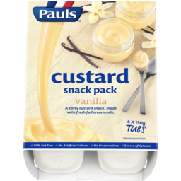 Photo of Pauls Custard Vanilla 6x150gm